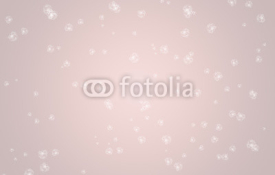Fototapety Simple abstract Rose Quartz colored background with white flowers. Soft spring background, concept of colors.