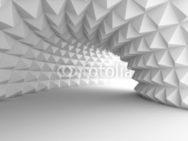 Obrazy i plakaty Abstract Architecture Tunnel With Light Background