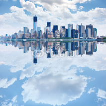 Obrazy i plakaty Panoramic image of lower Manhattan skyline