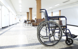 Obrazy i plakaty wheelchair hospital corridor