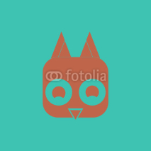 Obrazy i plakaty Vector illustration of animals on stylish background baby bird head