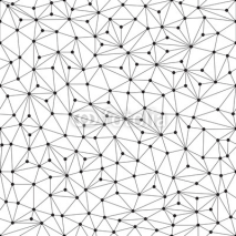 Fototapety Polygonal background, seamless pattern, lines and circles