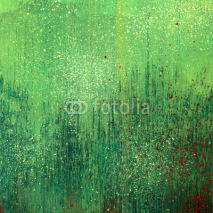 Fototapety Green acrylic paint background texture paper
