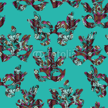 Naklejki Seamless pattern with carnival mask