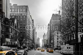 Fototapety Yellow cabs at Upper West Site of Manhattan, New York City