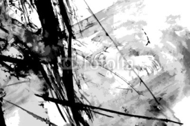 Naklejki Abstract ink paint vector background