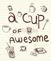 Naklejki A Cup of Awesome