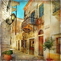 Obrazy i plakaty pictorial old streets of Greece