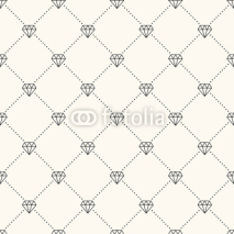 Fototapety Vector seamless retro pattern, with diamonds.