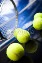 Fototapety Tennis racket and balls, sport