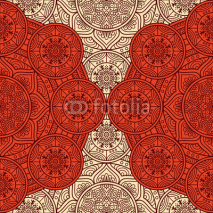 Fototapety Ethnic floral seamless pattern