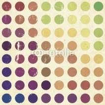 Naklejki Retro colorful circles background, vector