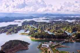 Fototapety Aerial View of Guatape Lake, Colombia