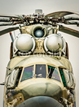 Fototapety Front view of russian military helicopter.