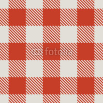 Fototapety Seamless red and white tablecloth vector pattern.