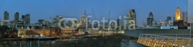 Fototapety Panoramic view of City of London England UK Europe at dusk