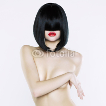 Fototapety Nude woman with short hairstyle