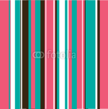 Naklejki Aqua, Pink & Brown Stripes