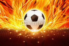 Fototapety Soccer ball in fire
