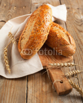 Naklejki Whole grain bread (9 grain bread)