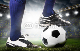 Fototapety legs of a soccer player