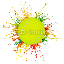 Fototapety colorful splash with sport ball