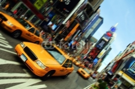 Obrazy i plakaty New York City Taxi, Times Square