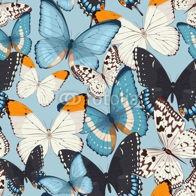 Colorful butterflies seamless