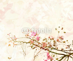 Naklejki Pink Blossom Digital Painting Background