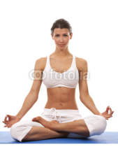 Fototapety woman and yoga