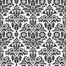 Naklejki Damask Seamless Floral Pattern Background