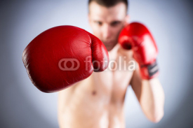 Fototapety Boxing. Fighters glove close-up
