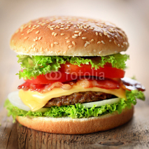 Fototapety Cheeseburger