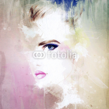 Obrazy i plakaty woman portrait  .abstract  watercolor .fashion background