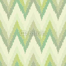 Obrazy i plakaty Zigzag pattern in green color. Seamless texture.