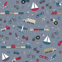 traffic elements pattern on gray background
