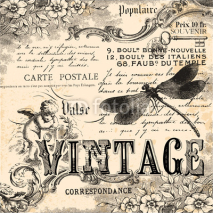 Fototapety Vintage collage background