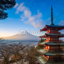 Obrazy i plakaty Mt. Fuji viewed from Chureito Pagoda