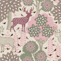 Obrazy i plakaty Autumn forest seamless pattern