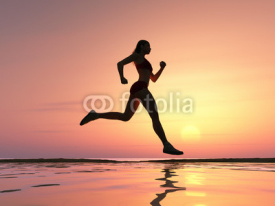 Obrazy i plakaty Woman running on the beach