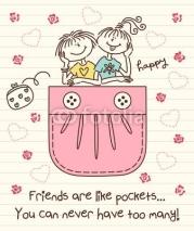 Naklejki Friends Are Like Pockets