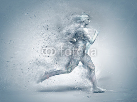 Fototapety running,abstract