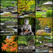 Obrazy i plakaty Japan Zen Buddhismus Collage