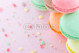 Fototapety Macaroons on pastel pink background
