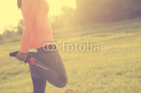 Fototapety Runner woman warm up