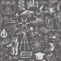 Naklejki Science And Education Seamless Pattern
