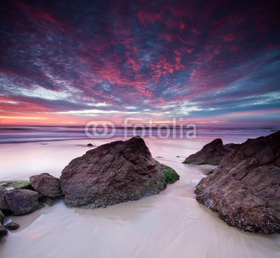 Obrazy i plakaty australian seascape at dawn on square format